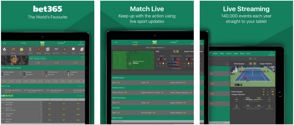 bet365 mobile for ipad